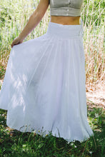 Load image into Gallery viewer, Panel Skirt - white cotton-linen