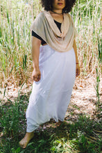 Load image into Gallery viewer, Harem Skirt Pants - white cotton-linen