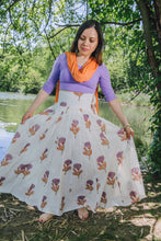 Load image into Gallery viewer, Panel Skirt - orange/lavender