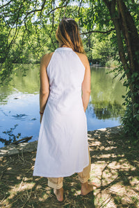 Edge Tunic - white linen