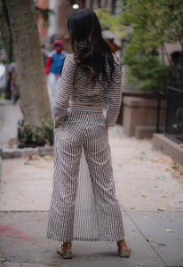 Stripe Skirt Trousers