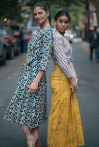 Mustard Skirt Trousers