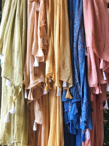 Long Sheer Scarf - multiple colors
