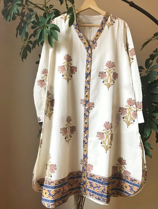 Airy Tunic - soft pink/deep blue