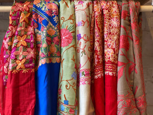 Wool Embroidered Scarves