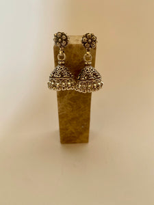 Silver Jhumka Bell Earrings