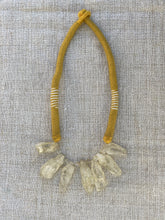 Load image into Gallery viewer, Vintage Yellow Woven Quartz Necklace