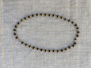 Silver Black Tulasi Necklace (16'' medium)
