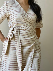 Eustoma Wrap Dress