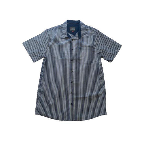 Trappers Two Tone Stripe Short Sleeve Shirt