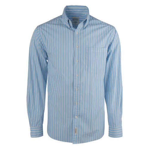 Canvas & Co Stripe Cotton Broadcloth Long Sleeve Shirt - Trappers