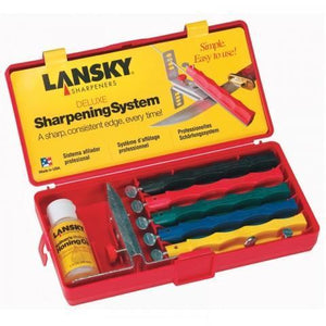 Lansky 5 Stone Sharpening Set - Trappers