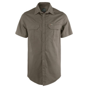 Trappers Double Pocket Twill Short Sleeve Shirt - Trappers