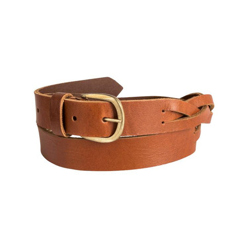 Trappers Ladies Plaited Leather Belt - Trappers