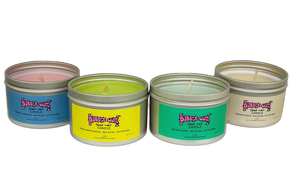 Bubble Gum Surf Wax Candles - New and Improved!
