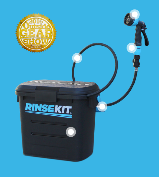 Rinsekit Pressurized, Portable Shower