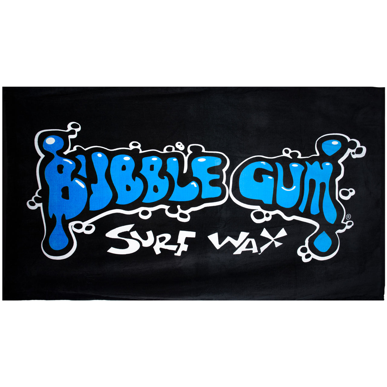 Bubble Gum Surf Wax Big Beach Towel Blue