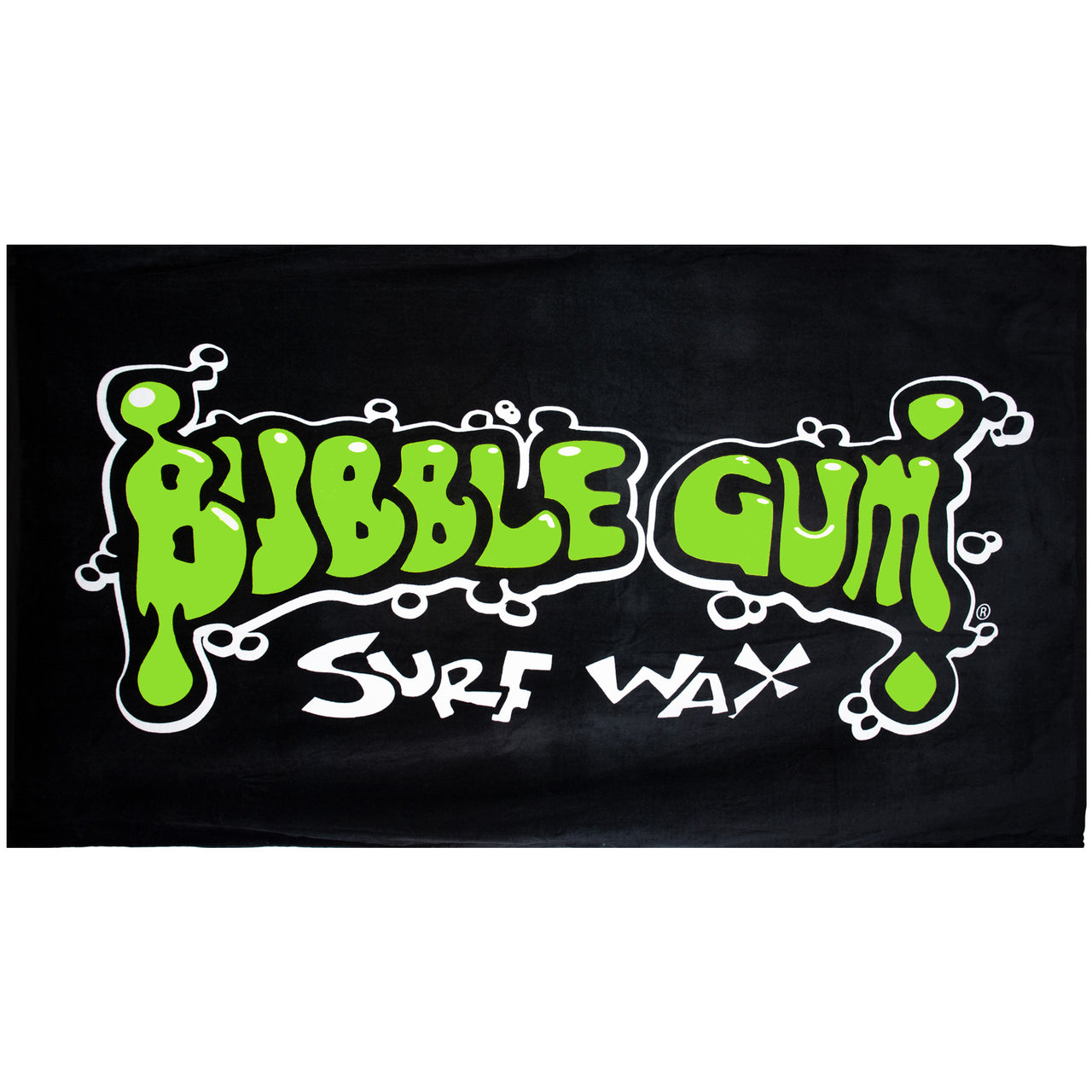 Bubble Gum Surf Wax Big Beach Towel Green