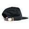Black Woven Label Patch Strapback Hat
