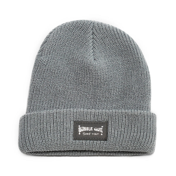 Muted Blue Woven Label Beanie