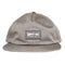 Steel Grey Woven Label Patch Strapback Hat
