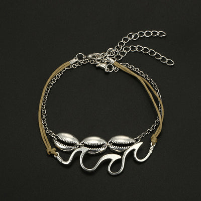 Waves and Cowrie Shell Anklets - Unique women Jewelry! Rings, bracelets, watches & more..