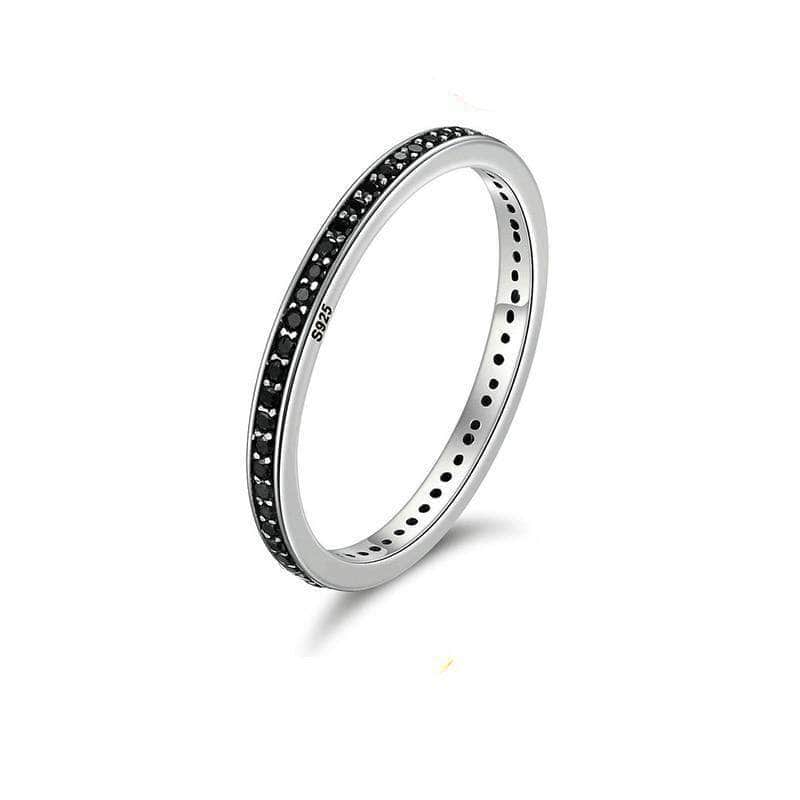 Black Spirit CZ Eternity Ring Silver - Unique women Jewelry! Rings, bracelets, watches & more..