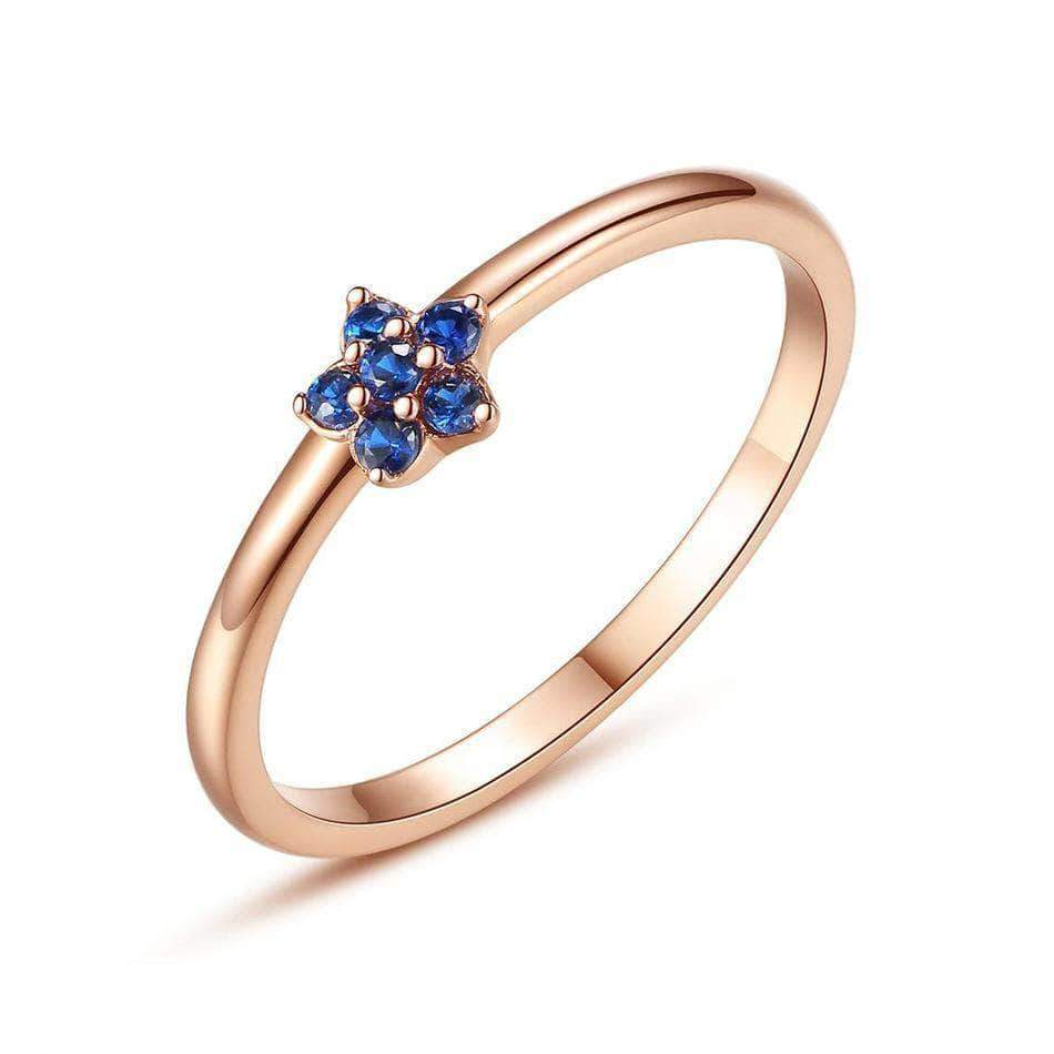 Blue Clear CZ Gold Plated Ring Silver - Unique women Jewelry! Rings, bracelets, watches & more..