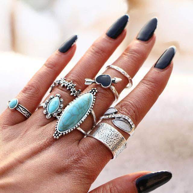 Bohemian Midi Finger Ring Set - Unique women Jewelry! Rings, bracelets, watches & more..