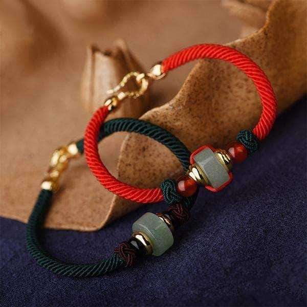 Centric Jade Lucky Energy Rope Bracelet - Unique women Jewelry! Rings, bracelets, watches & more..