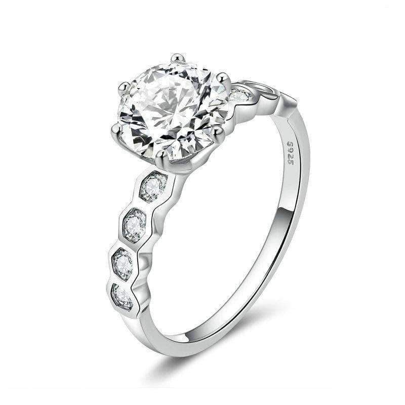Dazzling Love Engagement Wedding Ring Platinum Plated Silver - Unique women Jewelry! Rings, bracelets, watches & more..