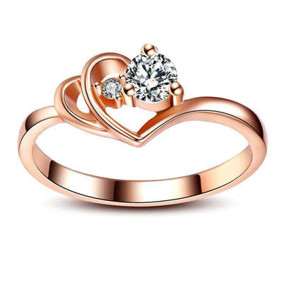 Double Hearts Of Love Ring - Unique women Jewelry! Rings, bracelets, watches & more..