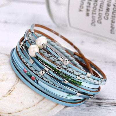 Exotic Blue Beach Spring/Summer Wrap Bracelet - Unique women Jewelry! Rings, bracelets, watches & more..
