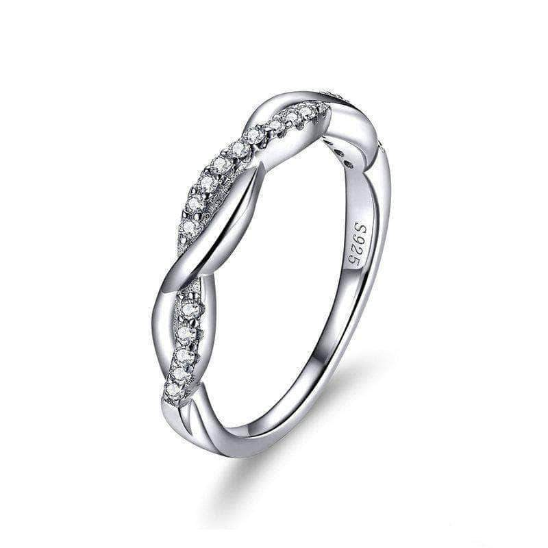 Fall In Love Infinite Eternity Ring Platinum Plated Silver - Unique women Jewelry! Rings, bracelets, watches & more..