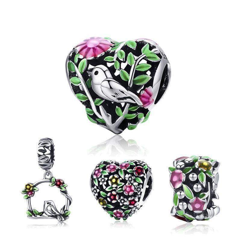 Family of Nature Dangle Charm Beads Silver - Unique women Jewelry! Rings, bracelets, watches & more..