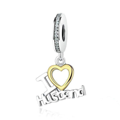 I Love Husband Dangle Charm Silver - Unique women Jewelry! Rings, bracelets, watches & more..