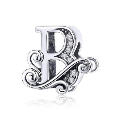 Monogram A-Z Letters Charm Bead Silver - Unique women Jewelry! Rings, bracelets, watches & more..