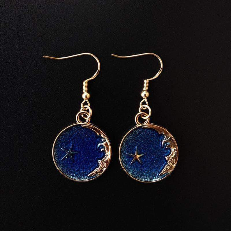 Moon and Star Drop Earrings - Unique women Jewelry! Rings, bracelets, watches & more..
