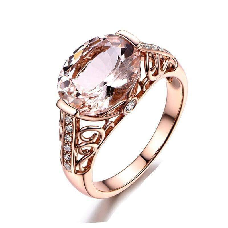 Morganite Engagement Wedding Ring - Unique women Jewelry! Rings, bracelets, watches & more..