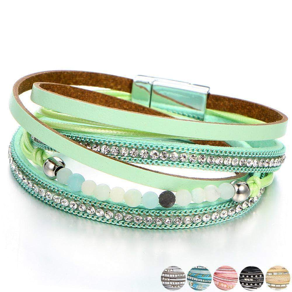 Multilayer Spring/Summer Leather Wrap Bracelet - Unique women Jewelry! Rings, bracelets, watches & more..