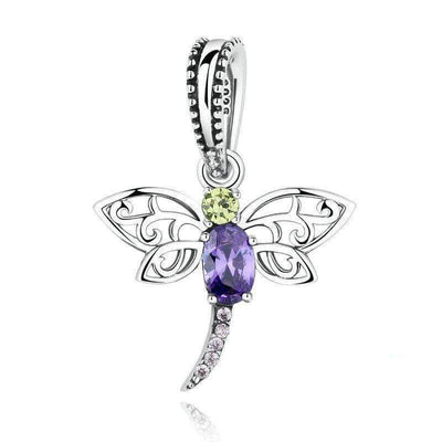 Mystical Dragonfly Dangle Charm Silver - Unique women Jewelry! Rings, bracelets, watches & more..