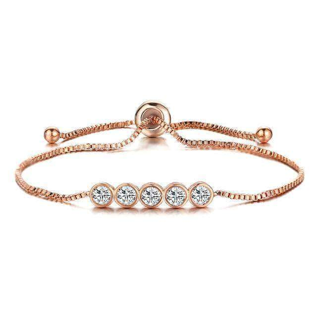 Pave CZ 5 Round Beads Bracelet - Unique women Jewelry! Rings, bracelets, watches & more..