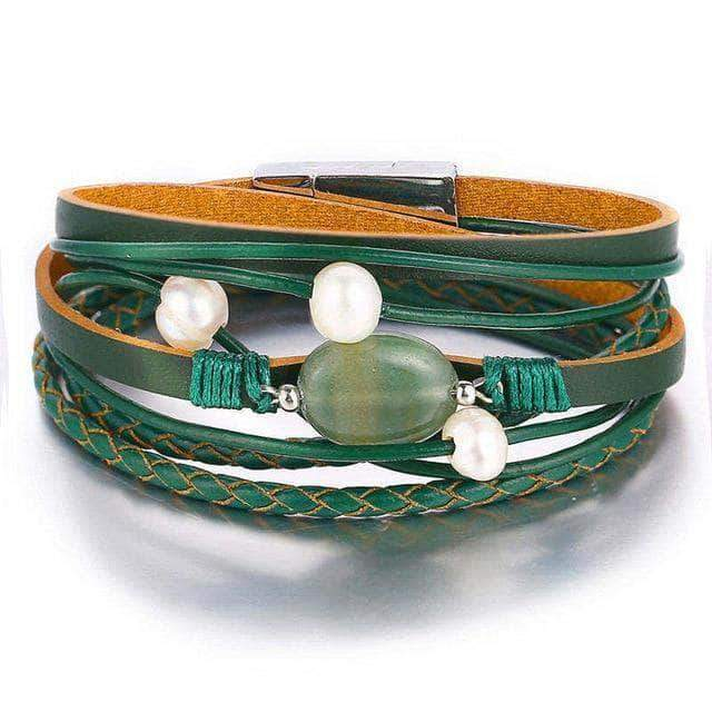 Poison Green Spring/Summer Wrap Bracelet - Unique women Jewelry! Rings, bracelets, watches & more..