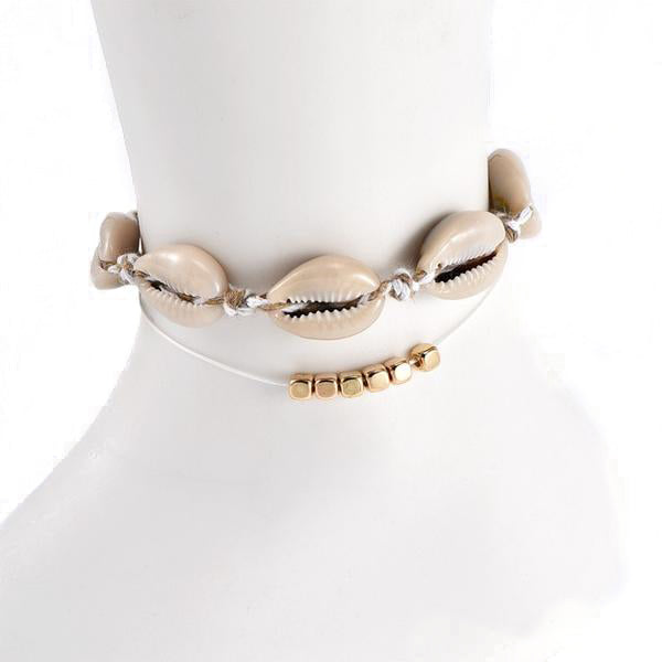 Cowrie Shell and Blocks Anklets - Unique women Jewelry! Rings, bracelets, watches & more..