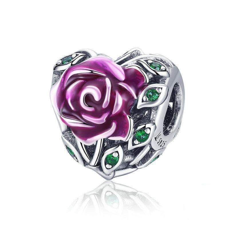 Romantic Rose Love Charm Bead Silver - Unique women Jewelry! Rings, bracelets, watches & more..