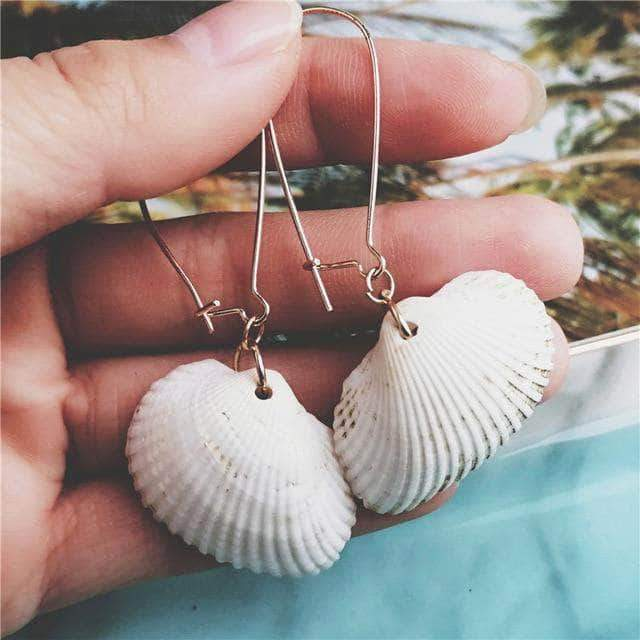 Scallop Seashell Drop Earrings - Unique women Jewelry! Rings, bracelets, watches & more..
