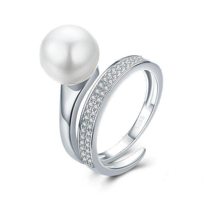 Shell Pearl Engagement Ring Silver - Unique women Jewelry! Rings, bracelets, watches & more..
