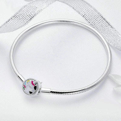 Snake Chain Bracelet with Unicorn Silver Clasp - Unique women Jewelry! Rings, bracelets, watches & more..