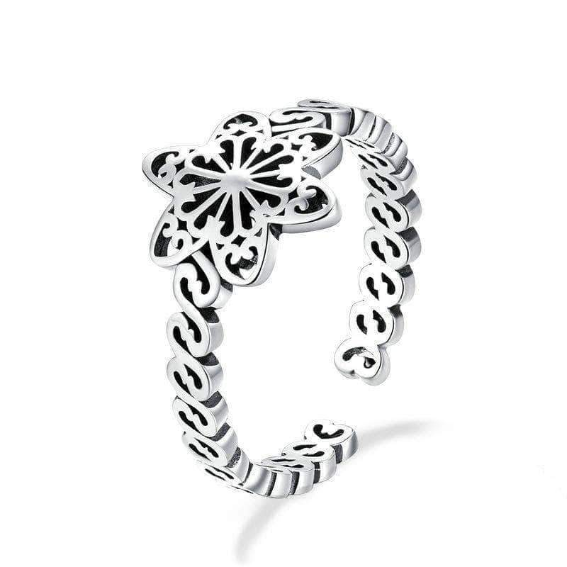 Snowflake Open Size Ring Silver - Unique women Jewelry! Rings, bracelets, watches & more..