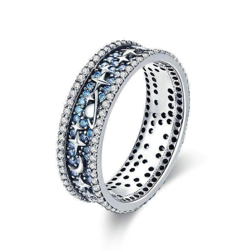 Sparkling Star Universe Eternity Ring Silver - Unique women Jewelry! Rings, bracelets, watches & more..